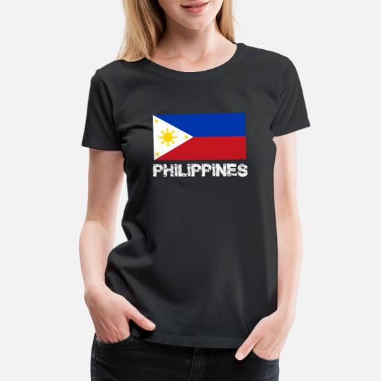 892afee8c0f15 Philippines National Pride Filipino Flag Design Women's Premium T ...