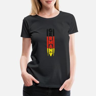 Black Red Gold Germany gift red gold black - Women's Premium T-Shirt