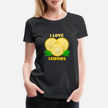 Seed I Love Lemons Christmas Gift Summer Birthday - Women's Premium T-Shirt