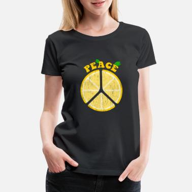 Lime Peace Lemons Lemon Kids Children Design - Women's Premium T-Shirt