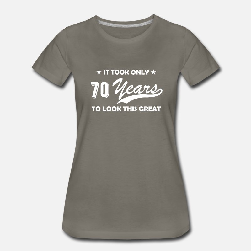 70 Years Old Seventieth Birthday Gift Funny Round By Shrooom