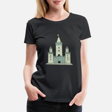 Lake lock gift Knight fortress prince - Women's Premium T-Shirt