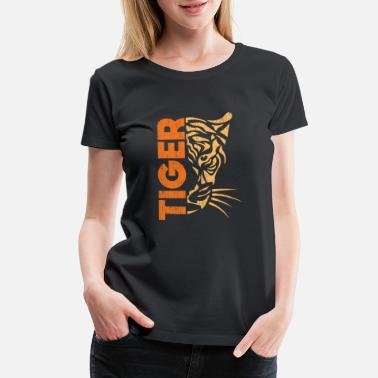 Parenting tiger gift wilderness Africa savannah - Women's Premium T-Shirt