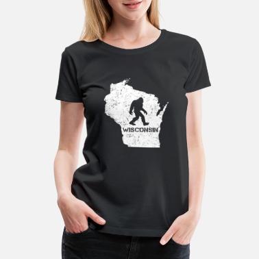 c5ca4ad0 Bigfoot Funny Bigfoot Wisconsin Tshirt Love Wisconsin - Women's Premium  ...