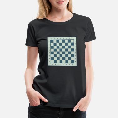 Diagonal chess gift chessboard king lady - Women's Premium T-Shirt