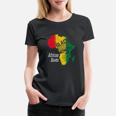 February Black History Month 2019 African Roots Gift - Women's Premium T-Shirt