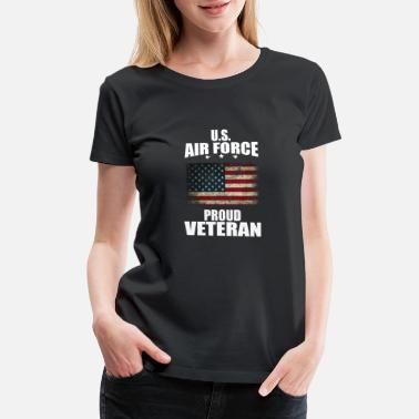 Telephone U.S Air force, proud Veteran, gift, birthday - Women's Premium T-Shirt