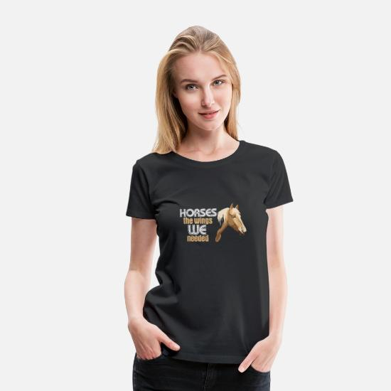 Riding T-Shirts - Pegasus - Women's Premium T-Shirt black