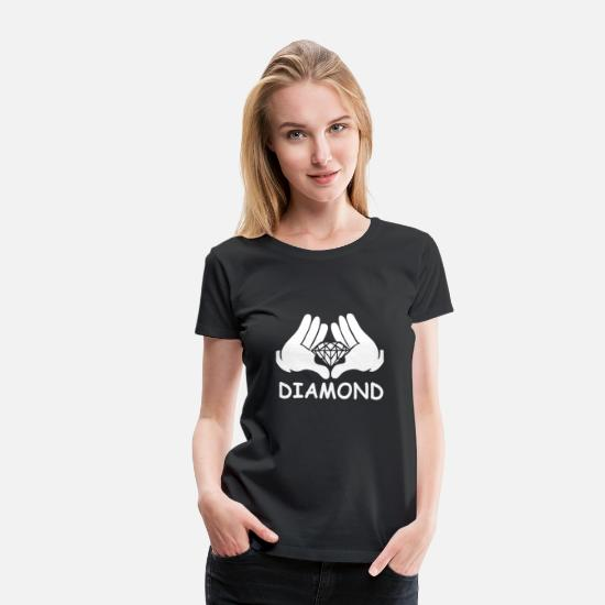 Car T-Shirts - Cartoon Hands Diamond - Women's Premium T-Shirt black