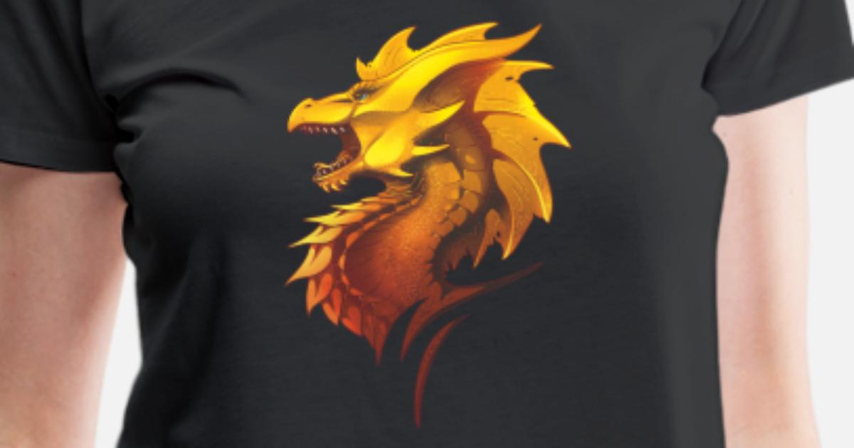 Golden Dragon Lover Fantasy Show Novelty Gift Idea Women's Premium T-Shirt    Spreadshirt