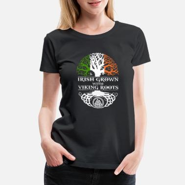 Plus IRISH GROWN VIKING ROOTS - Women's Premium T-Shirt