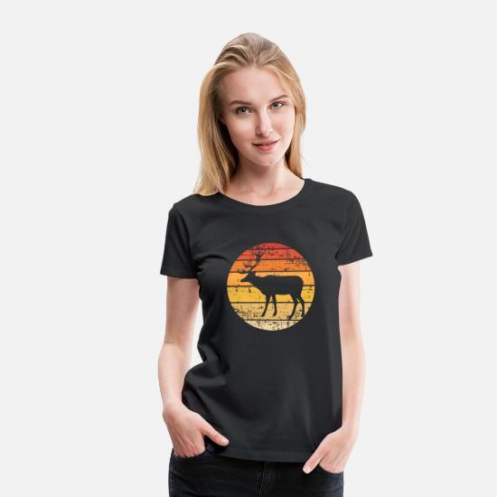 Stag T-Shirts - King of the forest - Women's Premium T-Shirt black