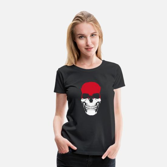 Tourist T-Shirts - Monaco Skull Flag - Women's Premium T-Shirt black