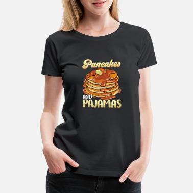 Womens I Want Pancakes Tshirt Funny Breakfast Brunch Food Tee For Ladies Dark