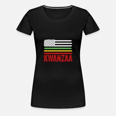 Mad Over Shirts Happy Kwanzaa Unisex Premium Tank Top