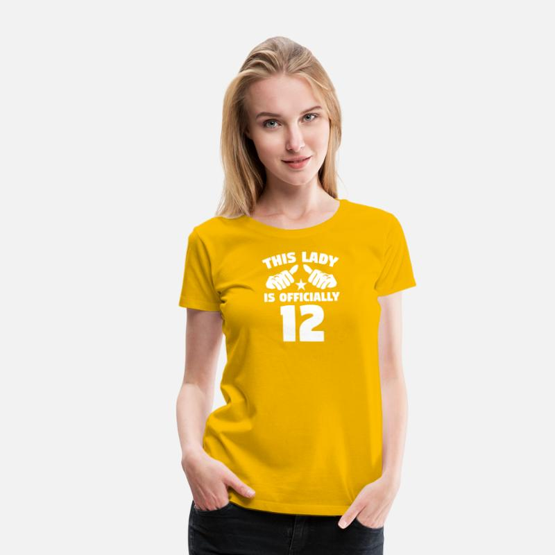 2e0d0e1ad141 This Lady Is Officially 12 Years Old Women s Premium T-Shirt ...