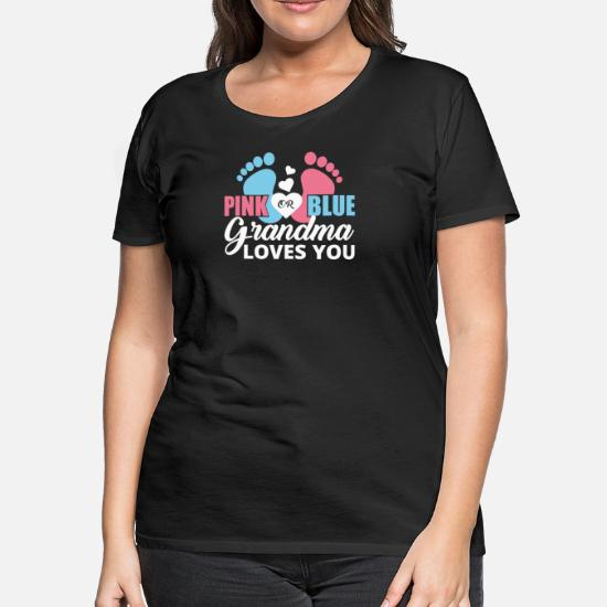 Pink Or Blue Grandma Loves You Mens Short Sleeve New Cotton Black T-shirt