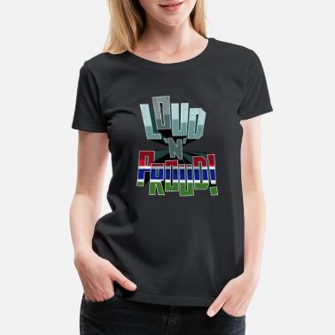 Face Gambia Pride Loud N Proud - Women's Premium T-Shirt