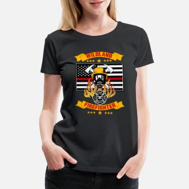 Red Chief Wildland Firefighter Thin Red Line Smokejumper - Women's Premium T-Shirt