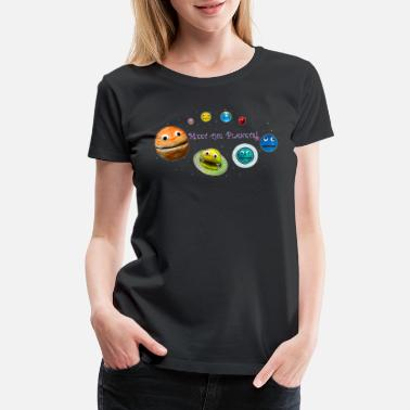 Planet Meet the Planets! - The Nirks - (with Pluto) - Women's Premium T-Shirt