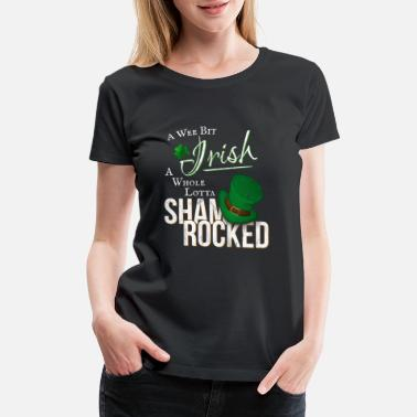 The Mad Hatter Wee Bit Irish Funky Shamrocked St Paddys Day Gift - Women's Premium T-Shirt