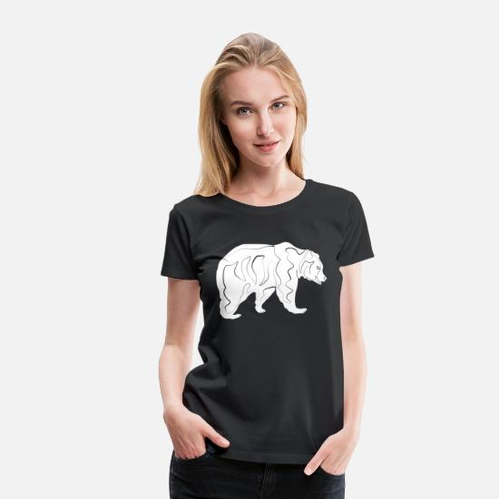 Grizzly T-Shirts - Bear Grizzly - Women's Premium T-Shirt black