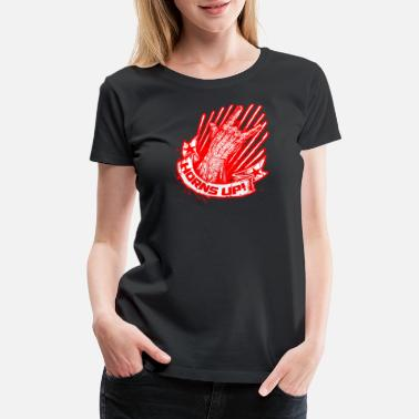 Slogan Symbols Hands Up Slogan - Women's Premium T-Shirt