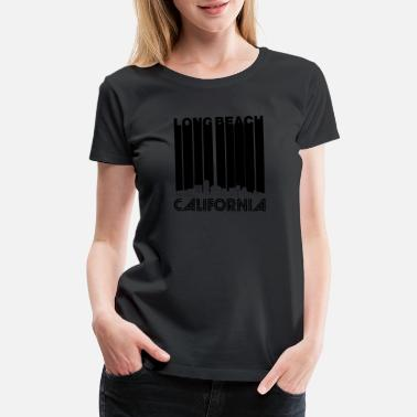 Retro Vintage.beach Retro Long Beach California Skyline - Women's Premium T-Shirt