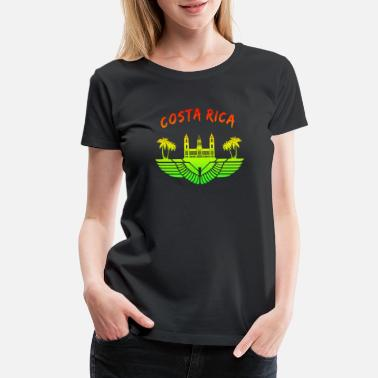 Palace Costa Rica Palace with Palms Colorful / Gift - Women's Premium T-Shirt