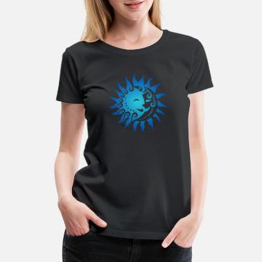 Zealand Maori Sun and Moon Couple Tribal Tattoo Gift Idea - Women's Premium T-Shirt