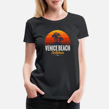 Venice Beach Summer Surfing Hot - Women's Premium T-Shirt