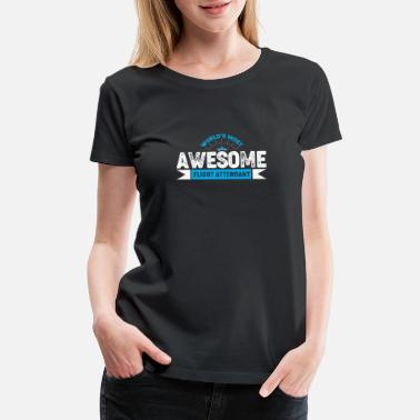 Journey Awesome flight attendant - Women's Premium T-Shirt