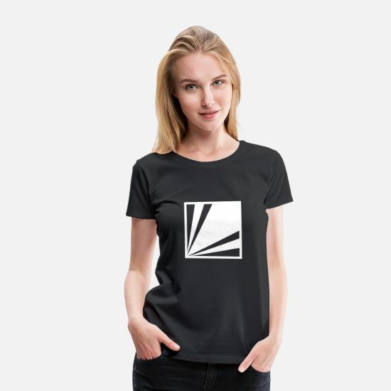 Symbol  T-Shirts - Abstract art with design forms 7 - Women's Premium T-Shirt black