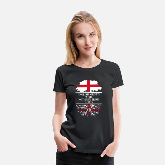 Country T-Shirts - England Nothern Ireland - Women's Premium T-Shirt black