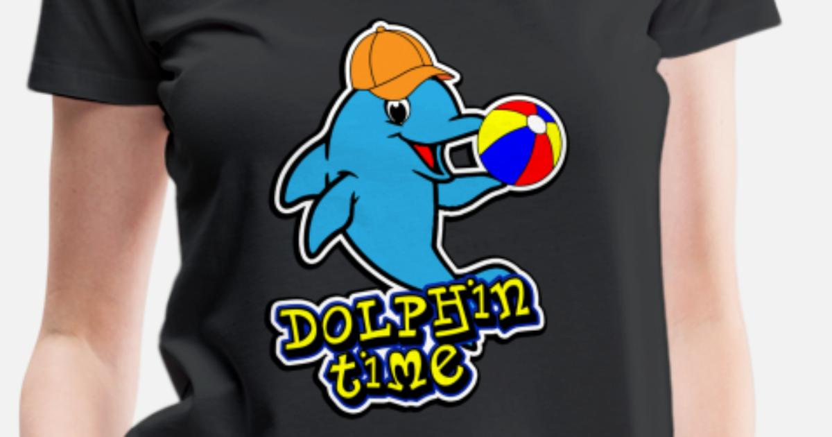 Dolphin Flippers ocean beach splash Women's Premium T-Shirt | Spreadshirt