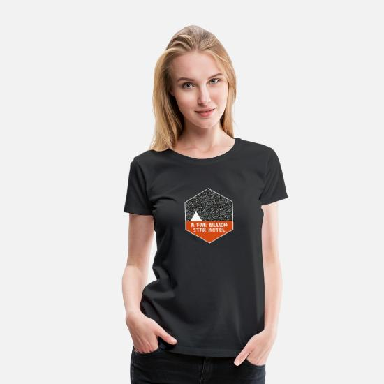 Camping T-Shirts - Camping under the stars - Women's Premium T-Shirt black