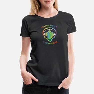 Goa Kids Bearded Dragon Techno Trance GOA Funny Beardie Tee - Women's Premium T-Shirt