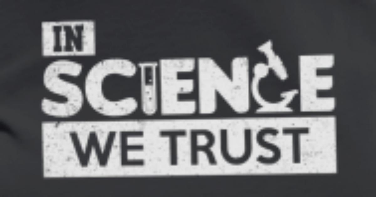 62d8a926 In Science We Trust Funny Scientist T-Shirt Women's Premium T-Shirt |  Spreadshirt