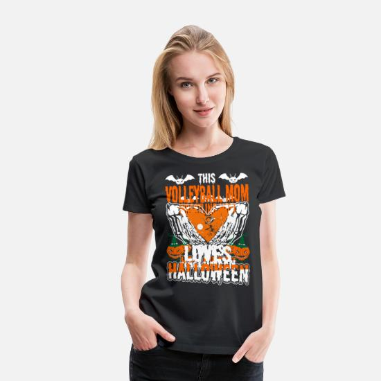 Pumpkin T-Shirts - This Wrestling Mom Loves - Women's Premium T-Shirt black