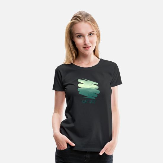 Lover T-Shirts - The Nature Retro Style gr - Women's Premium T-Shirt black