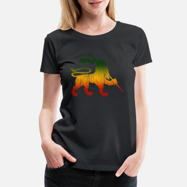 Reggae Weed Lion Of Judah - Reggae Music Rastafari Jamaica - Women's Premium T-Shirt