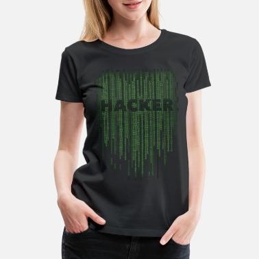 Matrix Hacker matrix - Women's Premium T-Shirt