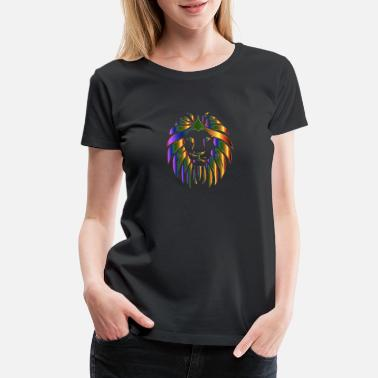 Prismatic Lion No Background - Women's Premium T-Shirt