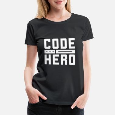 Programming Java Code Hero Programmer Geek - Women's Premium T-Shirt