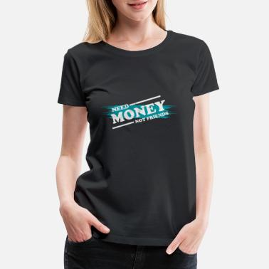 Coin Money Monets Gift Penunze Taler Dough Charcoal - Women's Premium T-Shirt