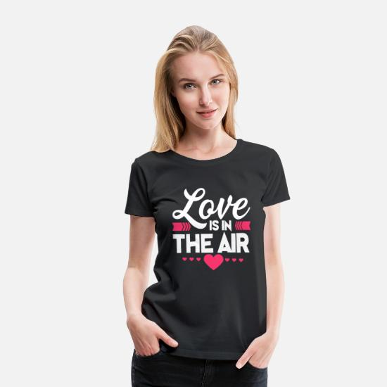 Love T-Shirts - Love Is In The Air Cupids Hearts Valentines Day - Women's Premium T-Shirt black