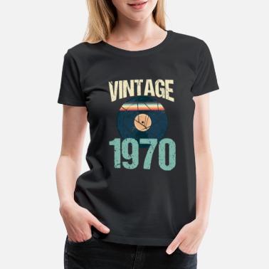 49 Years Old Birthday Retro Vintage 1970 49th Birthday Record Vinyl - Women's Premium T-Shirt