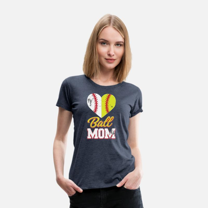 2cfefe8a5 Funny Softball Mom Ball Mom Softball Baseball Women's Premium T-Shirt |  Spreadshirt