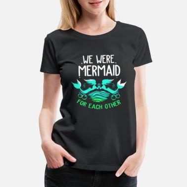 Castle Mermaid Fin gift Merman sea Ocean Funny fish - Women's Premium T-Shirt