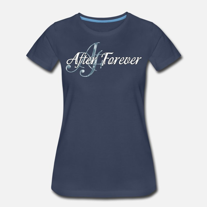 Forever T-Shirts - After Forever - Women's Premium T-Shirt navy